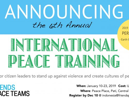 EVENT: January 2019 International Peace Training in Indonesia