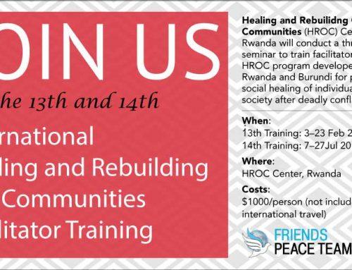 EVENT: February & July 2019 HROC Facilitator Trainings