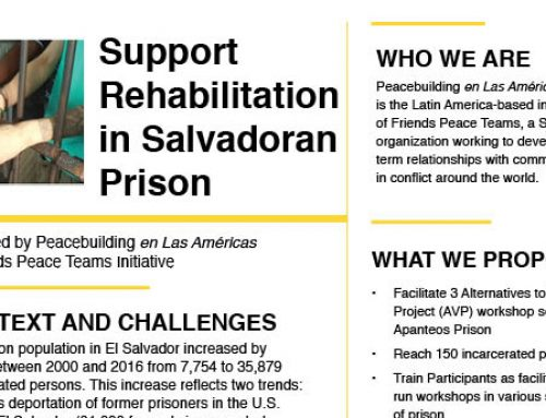 Support Rehabilitation in Salvadoran Prisons