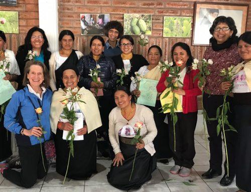 Ten Kichwa women leaders TakeTrauma Healing workshop in Cotacachi, Ecuador