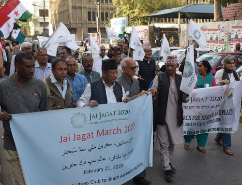 Act at Present: Hope for the Future Global Peace March Jai Jagat 2020