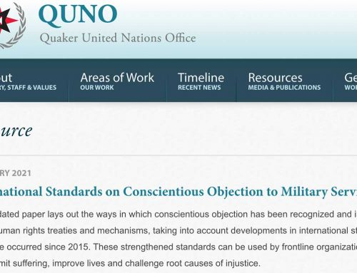 International Standards on Conscientious Objection to Military Service 2021